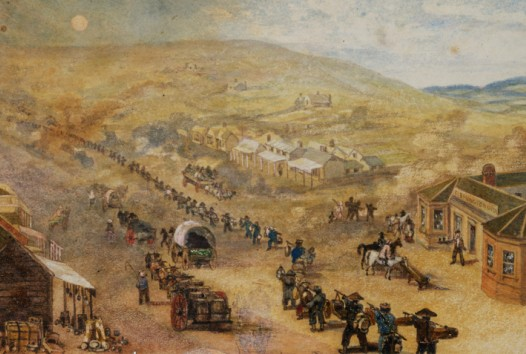 Painting of chinese diggers