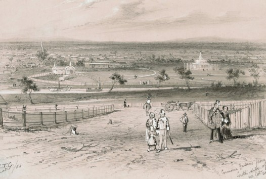S.T. GILL, Cremorne Gardens from South Side of Yarra nr Col- Andersons, 1855,