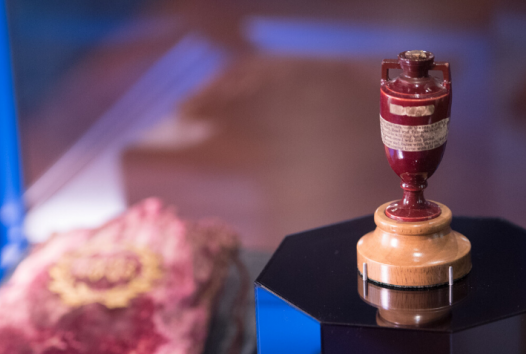 Ashes Urn on display in Victoria Gallery
