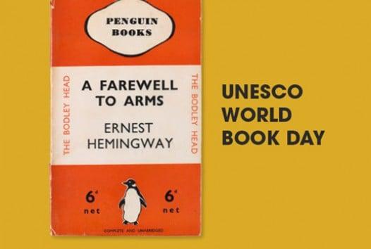 Penguin book cover on orange background