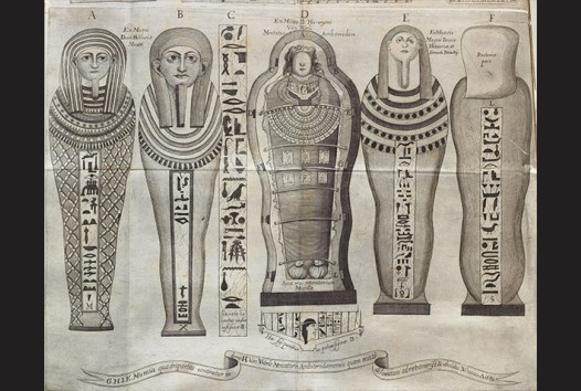 Illustration of Egyptian Sarcophagi