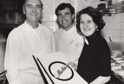 Mietta O'Donnell with Alain Chapel and Jacques Reymond