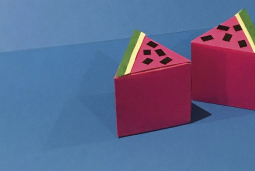 watermelon slices made of paper craft