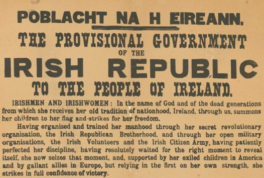 Proclamation of the Irish Republic (Dublin, 1917 facsimile of 1916 original), State Library Victoria