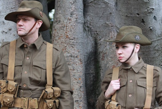 Roadshow actors in WWI uniform