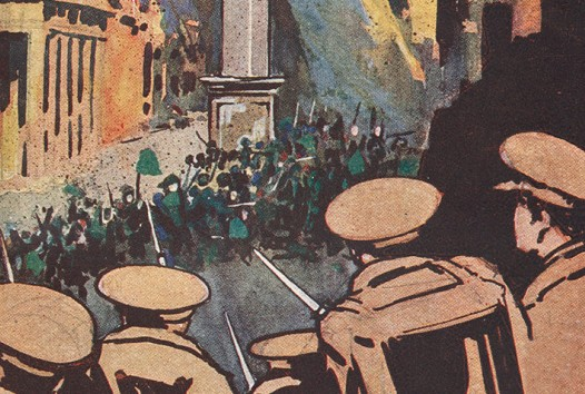 Cover illustration for Six days of the Irish Republic