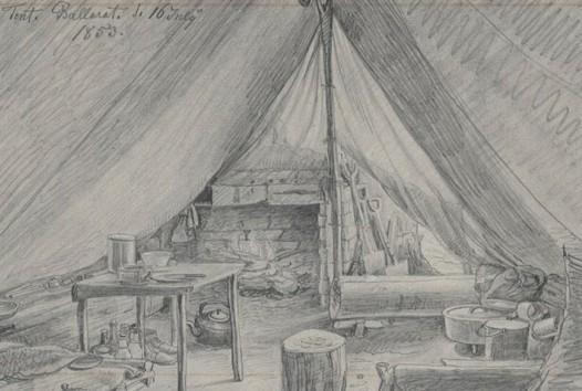 Georg Griffiths and Carl James Morgan Tent Ballarat 16 July 1853
