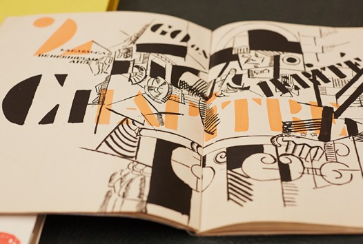 Illustrated pages of a book with Modernist drawings