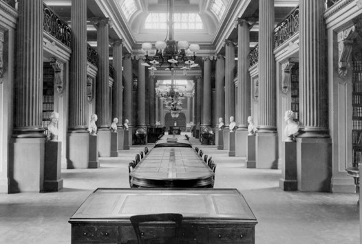 Interior of Queen's Hall, State Library Victoria